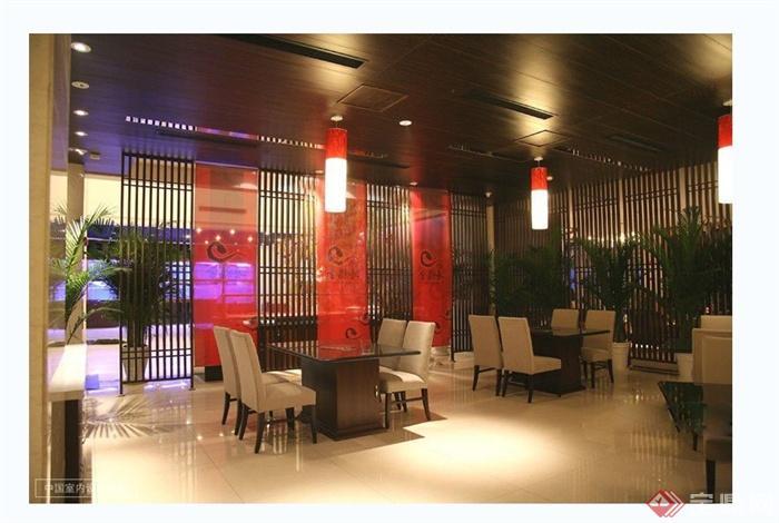 某现代风格详细酒楼设计cad施工图及效果图(3)
