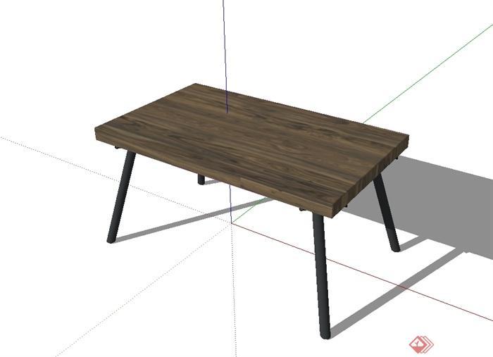 现代风格详细的桌子设计su模型(1)