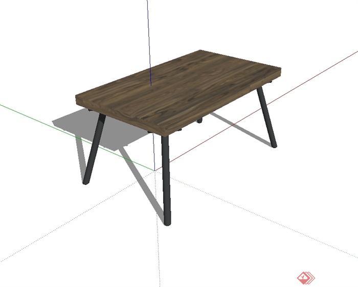 现代风格详细的桌子设计su模型(2)
