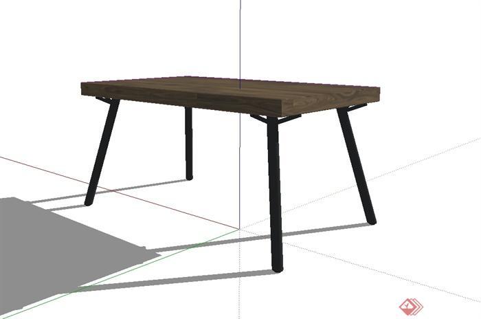 现代风格详细的桌子设计su模型(3)