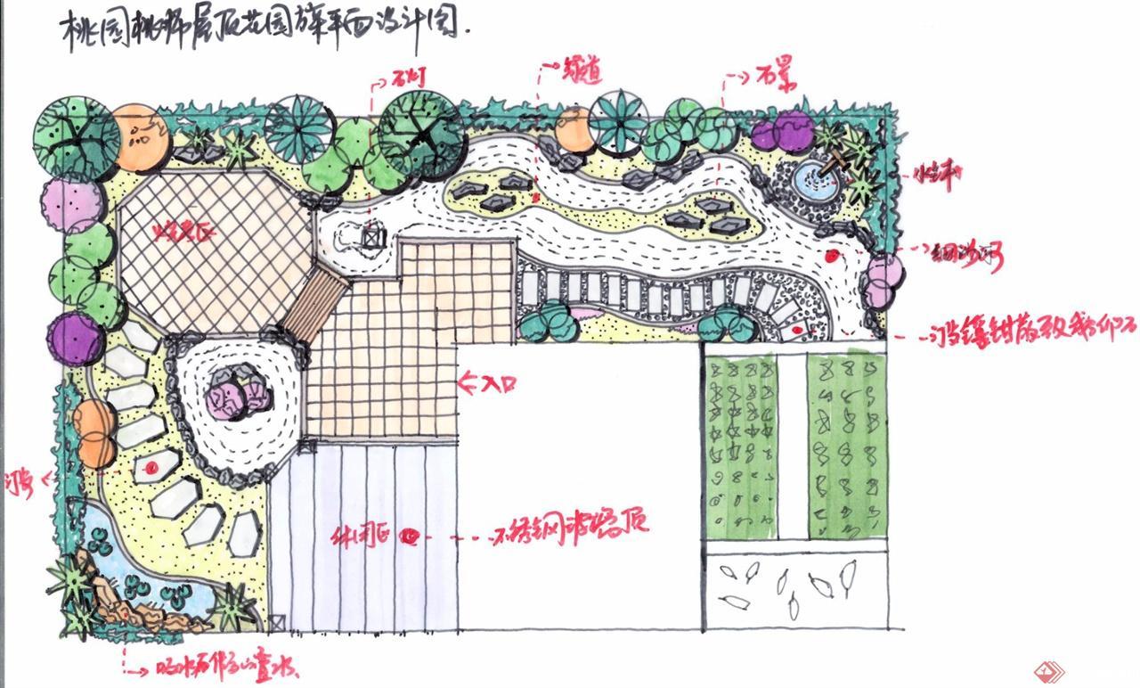 桃园屋顶花园方案设计图