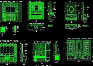 现代风格室内空间主墙面设计cad施工详图