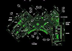 新古典主义多居室内空间设计cad施工图