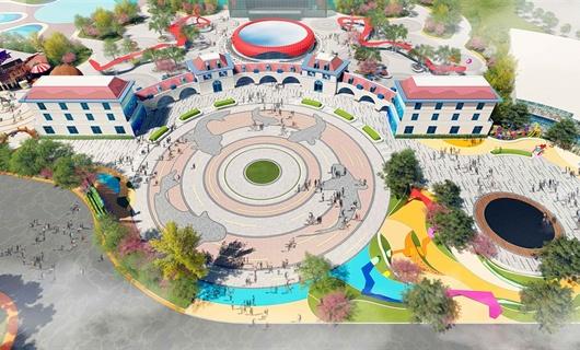 晋南水世界主广场景观设计