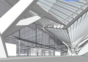 杭州东火车站建筑设计SU(草图大师)模型