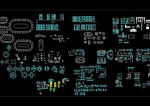 现代室内多个不同单独详细家具CAD图块