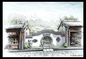 古建,民俗街,古街,风情古镇,特色小镇,美丽乡村,民俗民宿景观设计