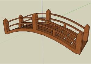 某现代风格木质拱桥设计SU(草图大师)模型