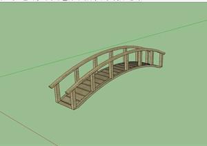 全木拱形园桥设计SU(草图大师)模型