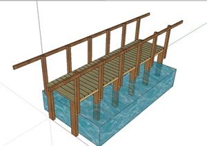现代风格过河小桥设计SU(草图大师)模型