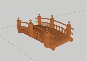 现代风格详细的过河园桥SU(草图大师)模型