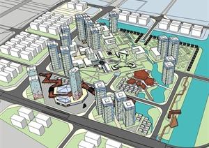 高新技术产业园规划方案SU(草图大师)精致设计模型
