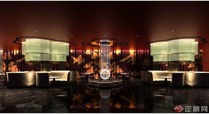 澳门五星级酒店中餐厅装修设计cad施工图(含效果)(1)