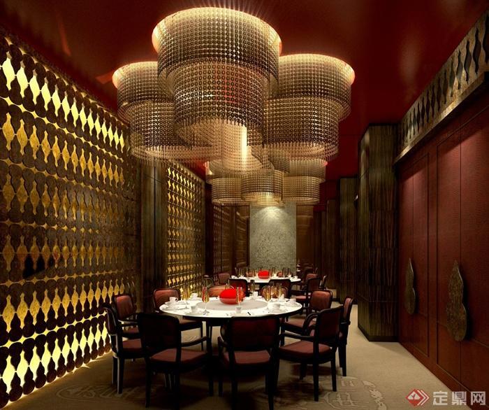 澳门五星级酒店中餐厅装修设计cad施工图(含效果)(4)