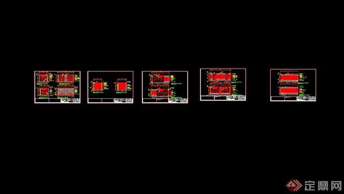 澳门五星级酒店中餐厅装修设计cad施工图(含效果)(9)