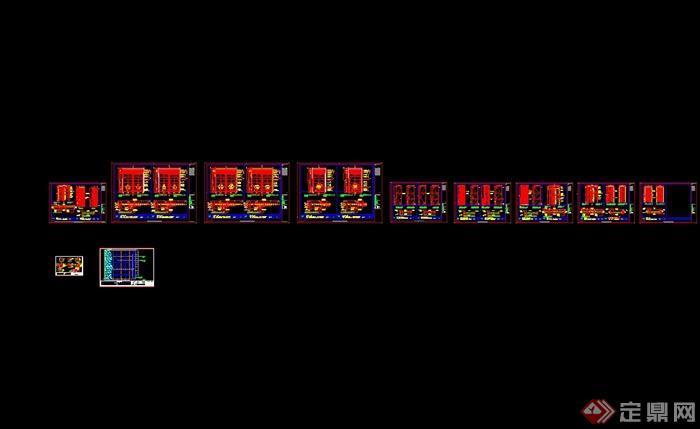 澳门五星级酒店中餐厅装修设计cad施工图(含效果)(11)