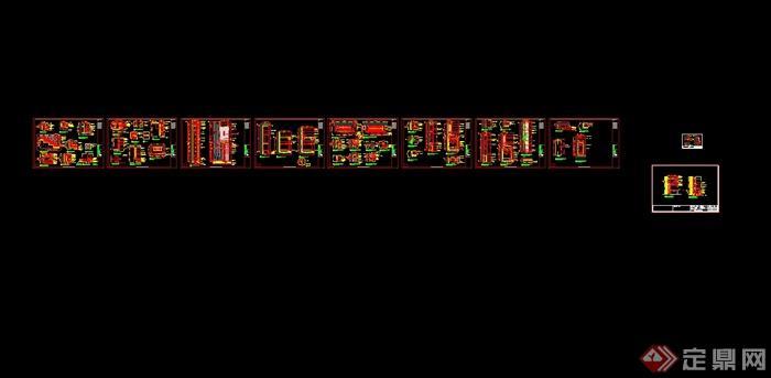 澳门五星级酒店中餐厅装修设计cad施工图(含效果)(10)