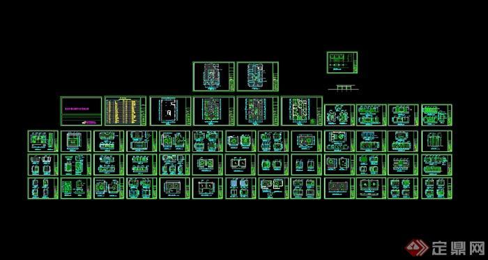 某现代风格详细的牛火锅店设计cad施工图(含效果)(11)