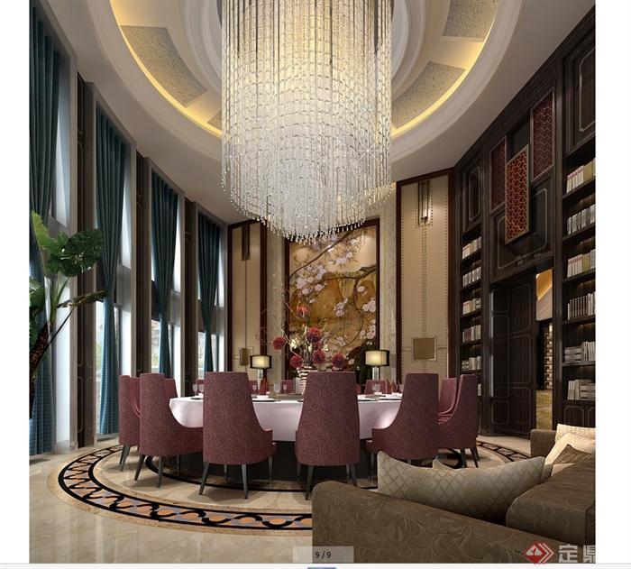 某现代风格详细商业街餐饮店详细设计cad施工图及效果图(1)