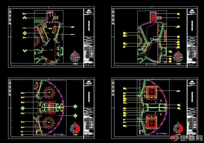 某现代风格详细商业街餐饮店详细设计cad施工图及效果图(7)
