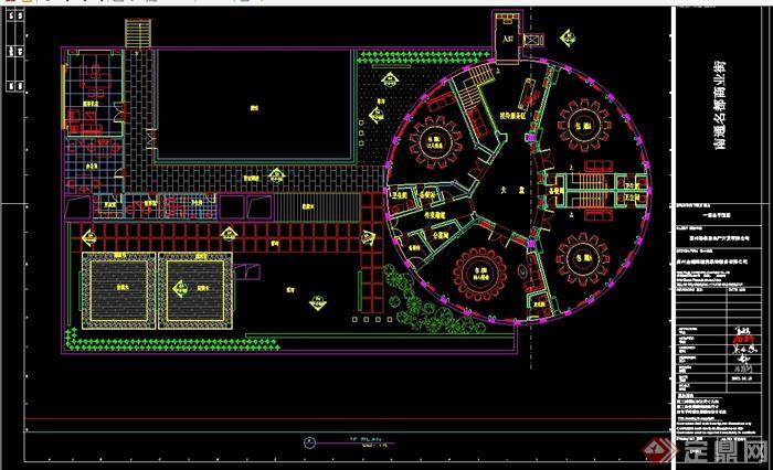 某现代风格详细商业街餐饮店详细设计cad施工图及效果图(6)