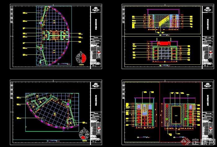 某现代风格详细商业街餐饮店详细设计cad施工图及效果图(8)