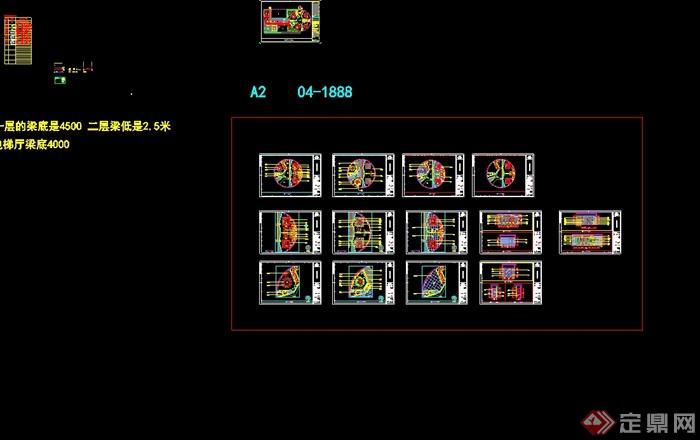 某现代风格详细商业街餐饮店详细设计cad施工图及效果图(10)