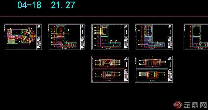 某现代风格详细商业街餐饮店详细设计cad施工图及效果图(11)