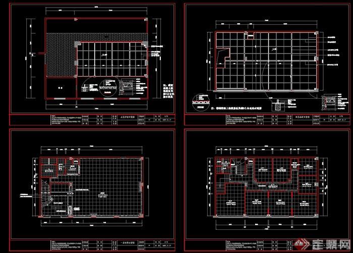 代中式风格餐馆全套装饰设计cad施工图