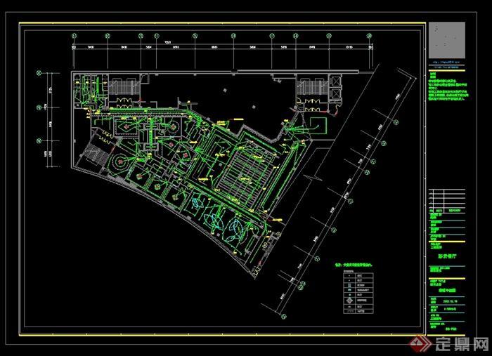 某现代风格详细的彩云餐饮空间设计cad施工效果图(6)