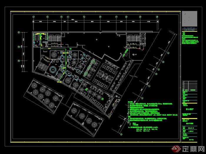 某现代风格详细的彩云餐饮空间设计cad施工效果图(9)