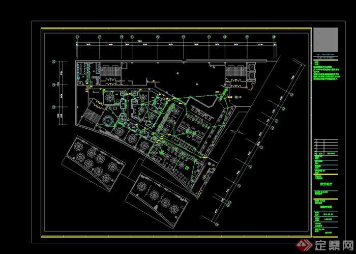 某现代风格详细的彩云餐饮空间设计cad施工效果图(7)