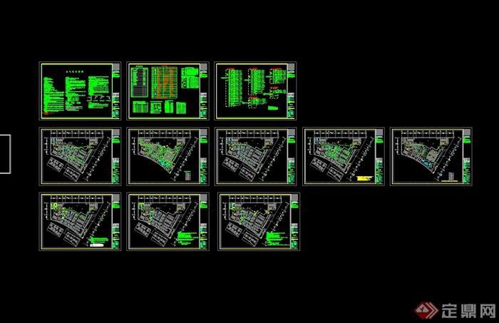 某现代风格详细的彩云餐饮空间设计cad施工效果图(10)