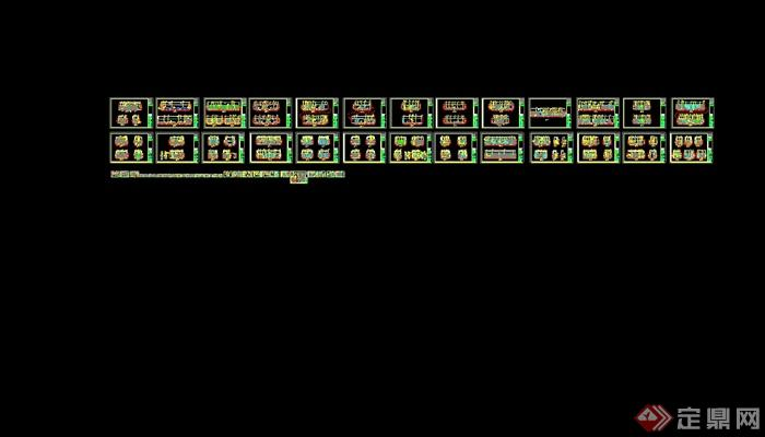 某现代风格详细的彩云餐饮空间设计cad施工效果图(11)