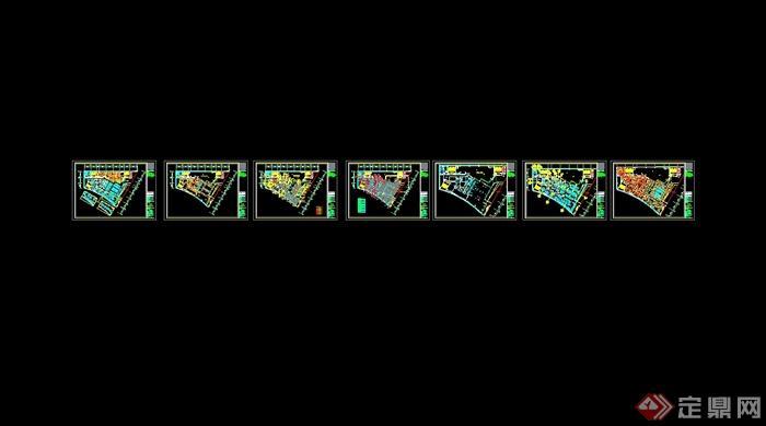 某现代风格详细的彩云餐饮空间设计cad施工效果图(13)