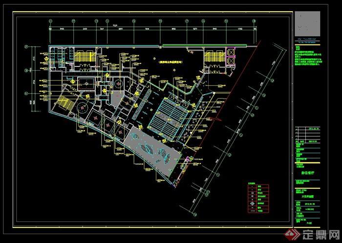 某现代风格详细的彩云餐饮空间设计cad施工效果图(12)