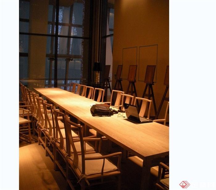 某现代风格详细的3层餐厅空间设计cad竣工图及实景图(2)