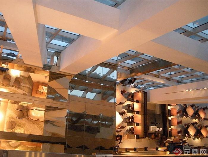某现代风格详细的3层餐厅空间设计cad竣工图及实景图(1)