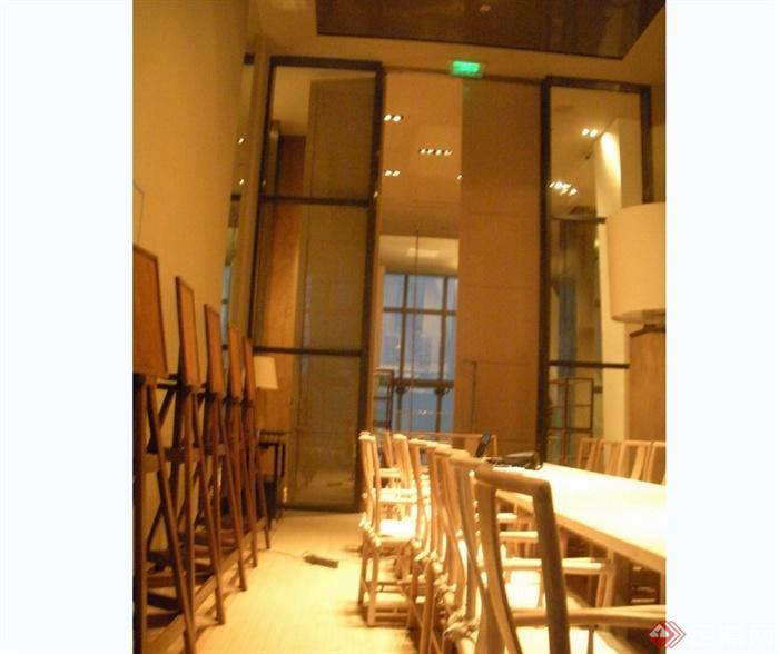 某现代风格详细的3层餐厅空间设计cad竣工图及实景图(3)