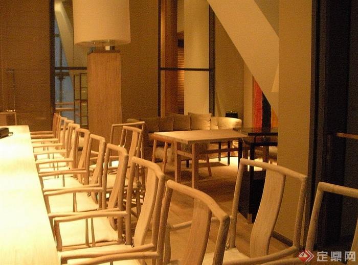 某现代风格详细的3层餐厅空间设计cad竣工图及实景图(4)