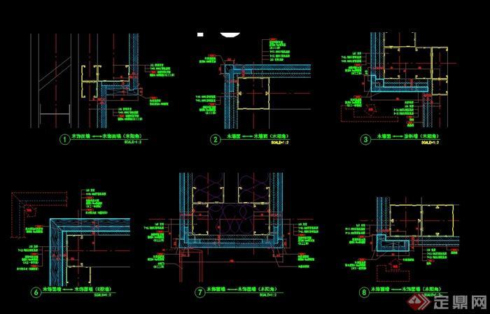 某现代风格详细的3层餐厅空间设计cad竣工图及实景图(8)