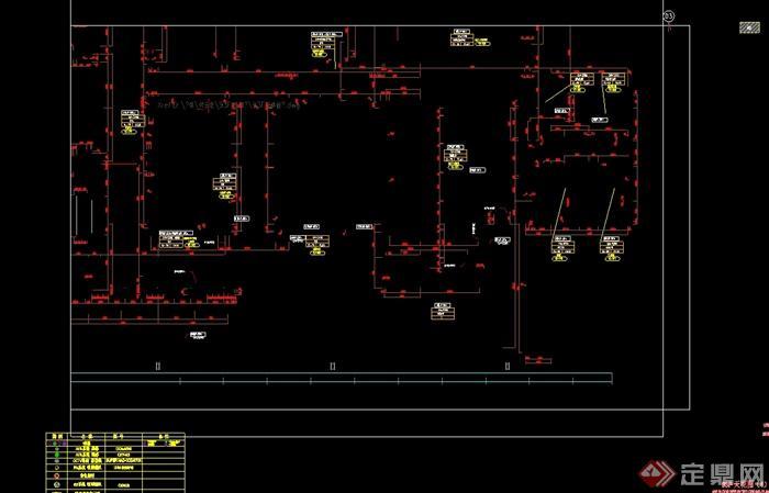 某现代风格详细的3层餐厅空间设计cad竣工图及实景图(7)