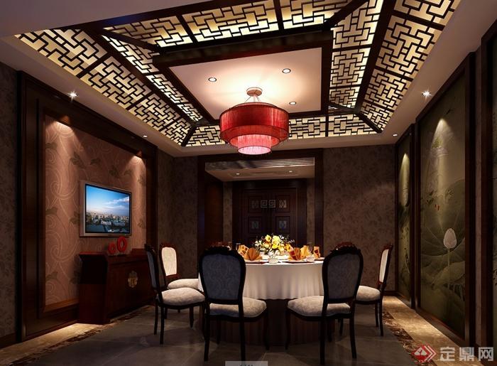 某现代风格详细精致的海鲜餐饮空间设计cad施工及效果图(1)