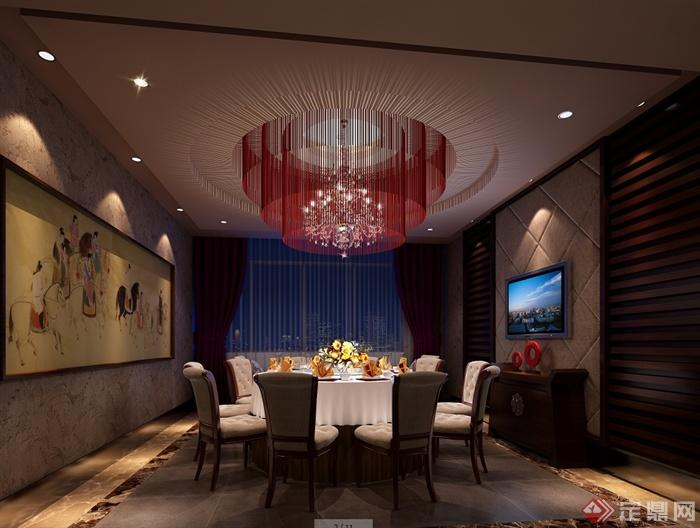 某现代风格详细精致的海鲜餐饮空间设计cad施工及效果图(2)