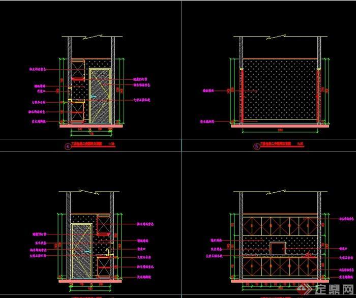 某现代风格详细精致的海鲜餐饮空间设计cad施工及效果图(9)