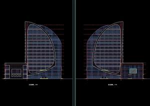 某现代风格电视台建筑规划设计cad方案