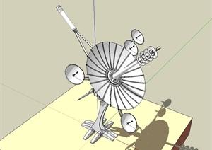 广播信号接收器设计SU(草图大师)模型