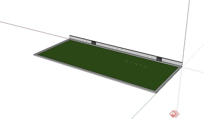 某教室黑板设计su模型[原创]