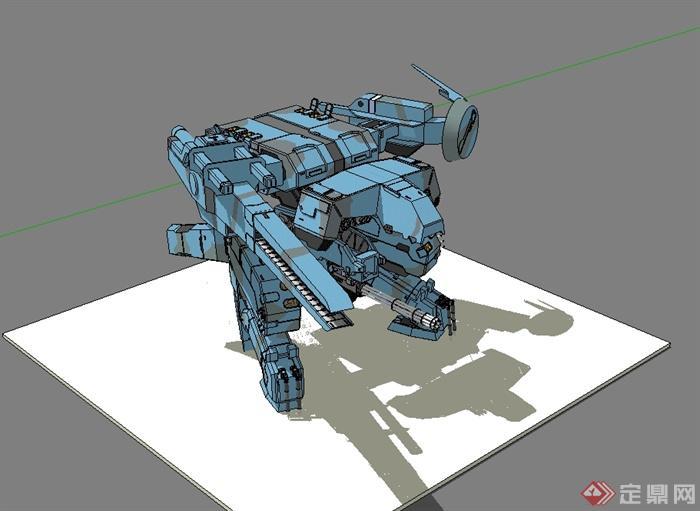 科幻機甲戰士機器人設計su模型[原創]