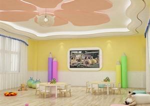 幼儿园教室室内设计3d模型